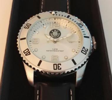 "Armbanduhr ""Logo"" m, silber"