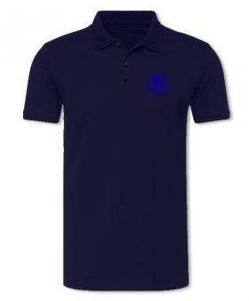 "Damen Poloshirt ""Logo blau"", navy"