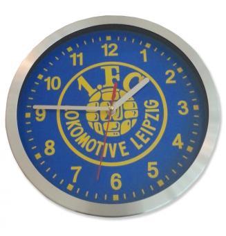 """Wanduhr """"Logo"""" blau-gelb"""