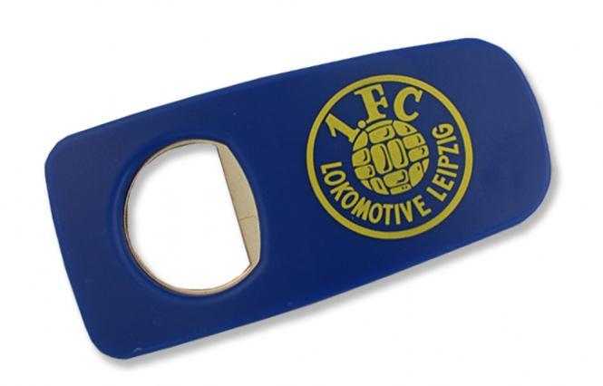 """Flaschenöffner """"Plastik - Logo"""" blau"""