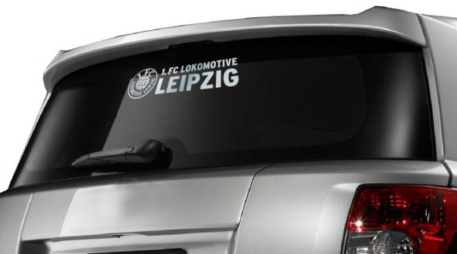 """Auto- und Heckscheibenaufkleber """"1. FC Lokomotive Leipzig"""""""