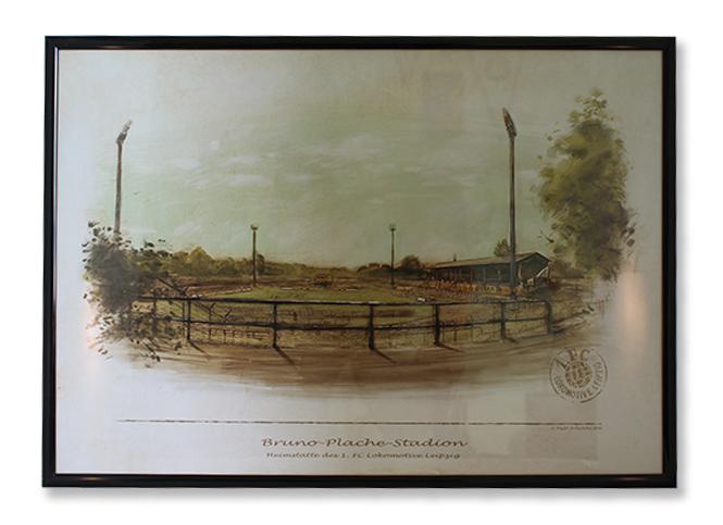"""Kunstdruck """"Bruno-Plache-Stadion"""""""