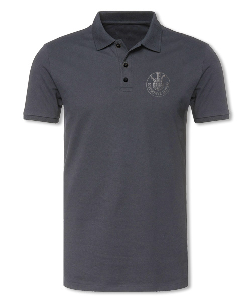 "Damen Poloshirt ""Logo grau"", grau"