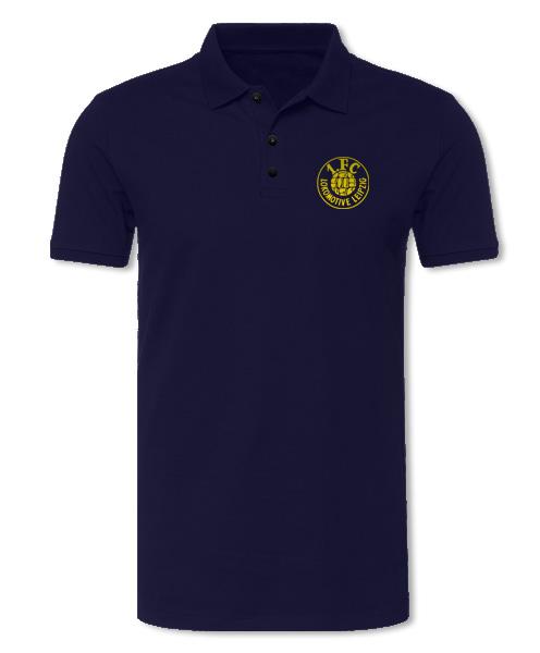 "Damen Poloshirt ""Logo gelb"", navy"