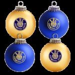 """Weihnachtsbaumkugeln """"Logo"""" 4er Set"""