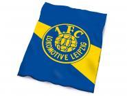 "Veloursdecke ""Logo"" blau-gelb"